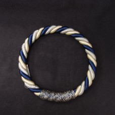 ASCA 裝飾A-72137-09W繩花圈白藍