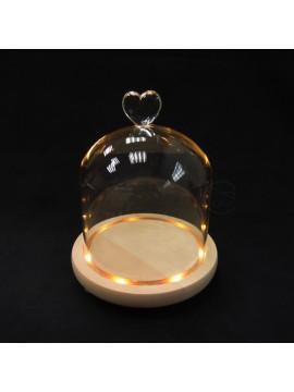 玻璃-愛心罩含燈