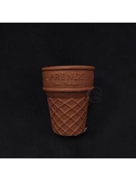 陶瓷-Green House 花器4447-BS冰淇淋杯(咖)