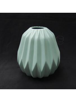陶瓷-東京堂 花器GW000600冰柱摺紋-小(水藍)