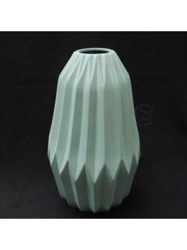 陶瓷-東京堂 花器GW000601冰柱摺紋-大(水藍)