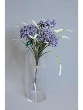 人造花 FM000795-010 植絨花 藍紫