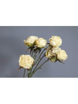 人造花 FM000821-037 玫瑰 奶白-黃
