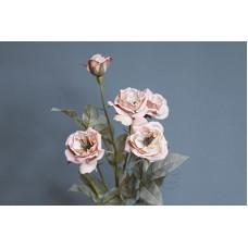 人造花 FM005178-002 庭園玫瑰 灰粉