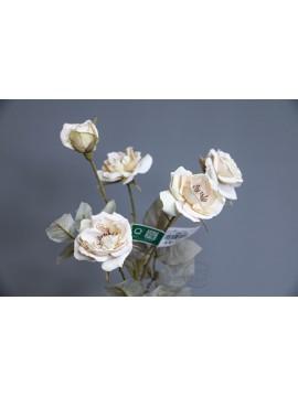 人造花 FM005178-037 庭園玫瑰 奶白