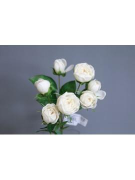 人造花 FM008380-037 玫瑰 奶白