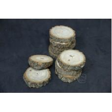 圓木切片10入 厚樹皮 Ø7-9cm