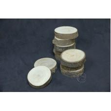 圓木切片10入 薄樹皮 Ø6-6.5cm