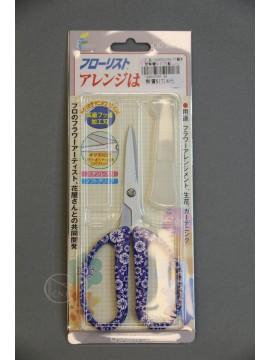 剪刀-工具 2AH000359 花藝剪刀 印花藍