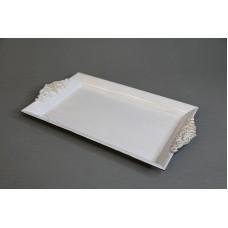 塑膠-花器 45402 白 長 W32xD18xH2.5