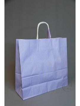 包裝-紙袋25CB3才 藍白條紋