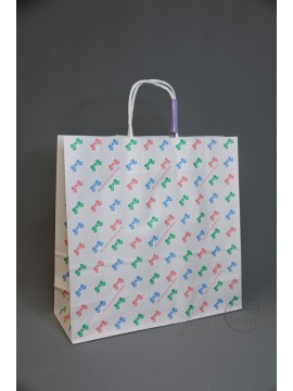 包裝-紙袋25CB3才 彩色緞帶