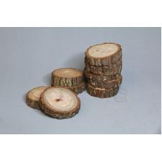 圓木切片10入 厚樹皮 Ø6.5-7cm
