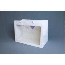 包裝-提袋 開窗卡紙花袋35X25X18(大)(橫)