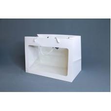 包裝-提袋 開窗卡紙花袋30X20X16(小)(橫)