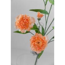 人造花 康乃馨 桔