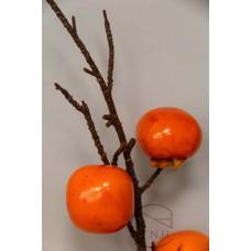 人造葉 柿子枝 橙