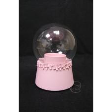 樹脂+玻璃音樂盒 粉色