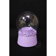 樹脂+玻璃音樂盒 紫色
