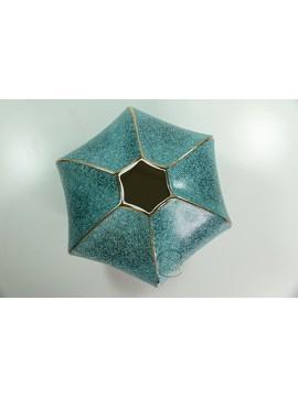 陶瓷花瓶(藍) H16xW24