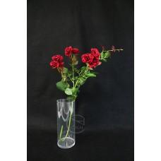 人造花 把束艷紅玫瑰花 紅