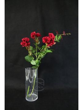 人造葉 把束艷紅玫瑰花 紅