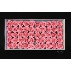 五層玫瑰香皂花 50入 深粉 零售