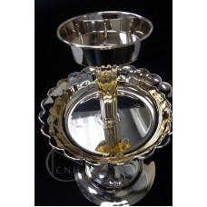 花器-果皿-金色