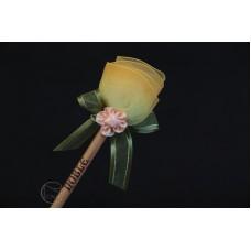 特價品 朵朵小花鉛筆 黃色 枝