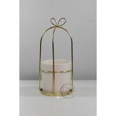 陶瓷 圓形金蝴蝶結白杯M 大