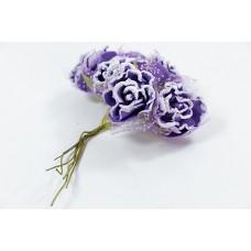 包棉紗玫瑰 紫色刷白 大 6入