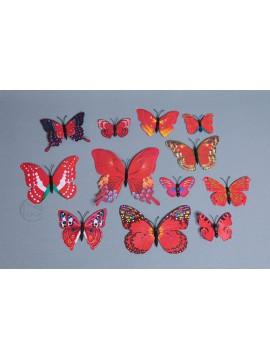 裝飾 PVC蝴蝶 大紅