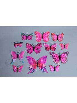 裝飾 PVC蝴蝶 粉