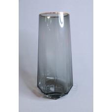 V1225鑽石煙灰金口玻璃 9X25CM