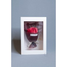玫瑰賀卡香皂花 F026-026-1 紅
