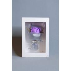 玫瑰賀卡香皂花 F026-026-1 中紫