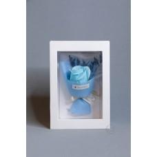 玫瑰賀卡香皂花 F026-026-1 淺藍