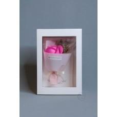 玫瑰賀卡香皂花 F026-026-1 亮粉
