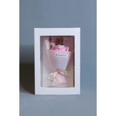 玫瑰賀卡香皂花 F026-026-1 淺粉
