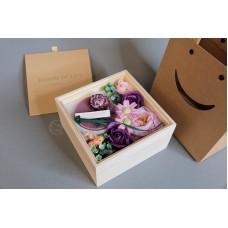 木四方蠟片禮盒 紫