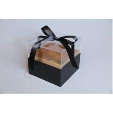 壓克力紙魔方花盒 黑