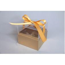 壓克力紙魔方花盒 金