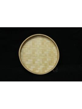 編織-圓形竹盤 22cm