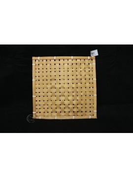 編織-竹編方形花器 30x30cm