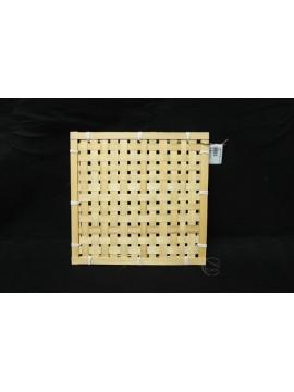 編織-竹編方形花器 25x25cm