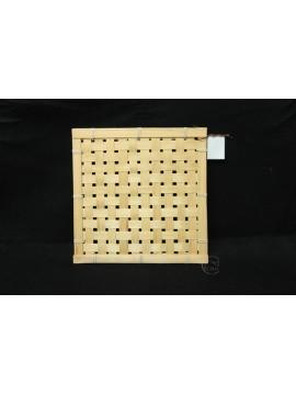 編織-竹編方形花器 20x20cm