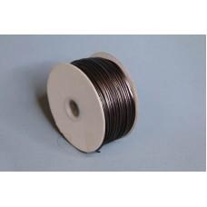 2mm 內折仿皮繩 100碼 古銅色