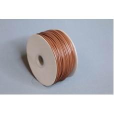 2mm 內折仿皮繩 100碼 棕色