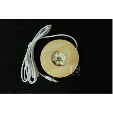 材料-USB插頭原木燈座 8cm