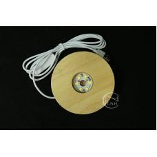 材料-USB插頭原木燈座 10cm